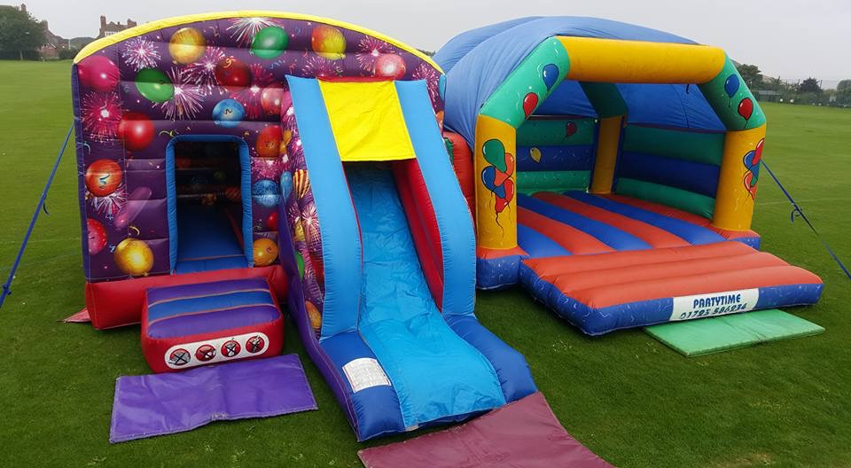Balloons Slide Bouncy Castle to hire from £65!