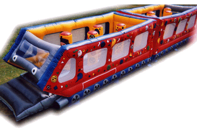 The Partytime Express Train leaving from Platform Fun! Hire today!